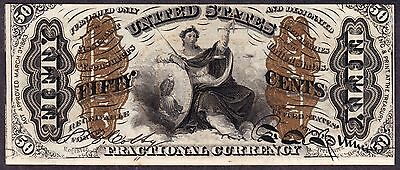 US 50c Justice Fractional Currency FR 1362 CU