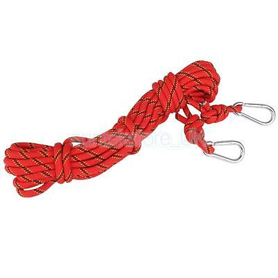 10m 3KN Stretch Abseiling Mountaineering Rock Climbing Rope Cord 10mm Safety