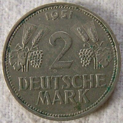 2 Deutsche Mark 1951 F - Art. 4226