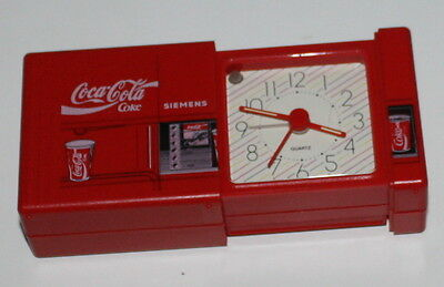 COCA COLA VINTAGE Alarm Travel Desk Clock SIEMENS VERY RARE