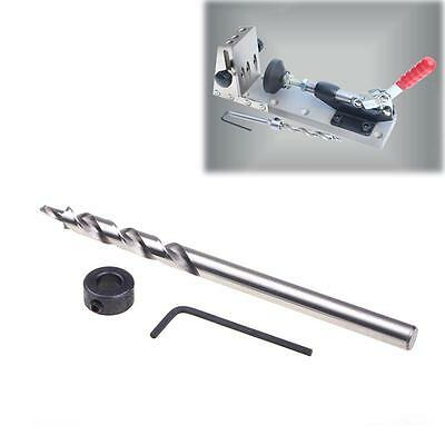 Popular Wood Twist Step Drill Bit Stop Collar + Wrench For Pocket Hole CA ED