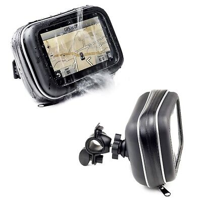 Motorcycle Handlebar Mount & Waterproof Case For Garmin Zumo 660 350 5'' Sat Nav