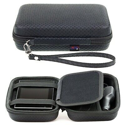 Black Hard Carry Case For Garmin Camper 660LMT-D With Accessory Storage