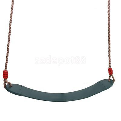 Plastic Swing Seat Set with Rope Kids Garden Outdoor Toy Tree Climbing Frame