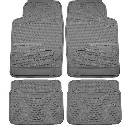 4pcs Gray All Weather Heavy Duty Rubber Floor Mats Universal Car Truck SUV