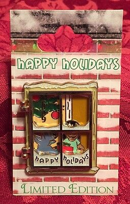 Disney Pin Lilo & Stitch Frosted Window Happy Holidays 2009 LE