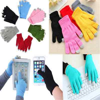 Fashion Unisex Magic Touch Screen Gloves Smart Phone Tablet Knit Warmer Mittens