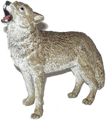 AAA 53001 Gray Wolf Howling Wild Animal Toy Model Figurine Replica - NIP