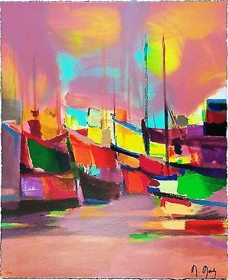 """Marcel Mouly """"les Bateaux Jaunes"""" 1998 