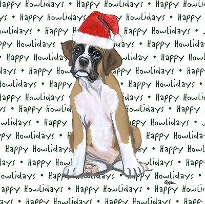 Boxer Dog Coasters Christmas Themed Puppy