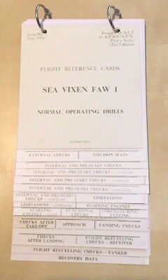 FLIGHT REFERENCE CARDS supplement to PILOT'S NOTES: SEA VIXEN FAW I/ FACSIMILE