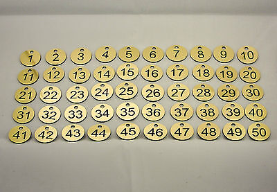 50x3cm Laser Engraved Number Discs, Table, Tags, Locker, Pub, Restaurant, Clubs