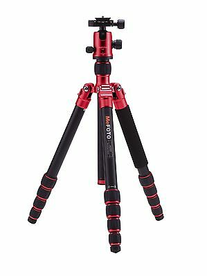 MeFoto Globetrotter Classic Aluminum Tripod Kit (Red) with Q2 Ball Head