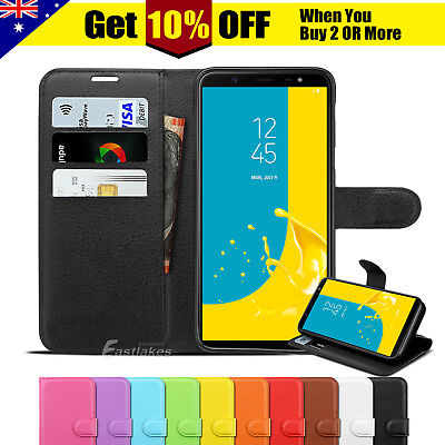 Samsung Galaxy J2 J5 J7 Pro J1 J8 Wallet Leather Case Magnetic Card Stand Cover