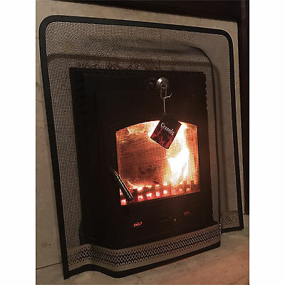Crannog Fire Guard Child Safety Mesh Screen Spark Open Metal Panel Fireplace NEW