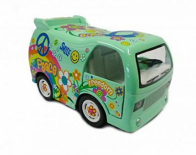 Hippi Bus Dream Car Modellauto grün Kinsfun