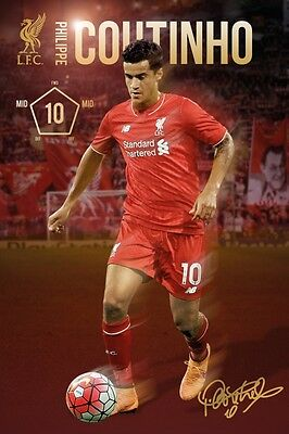 Fußball - Liverpool, Coutinho Poster Plakat (91x61cm) #91035