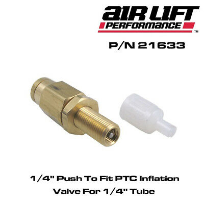 "AIR LIFT 21633 - 1/4"" Push To Fit PTC Inflation Valve For 1/4"" Tube"