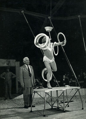 Photo Pierre Parente Spectacle Cirque Vers 1960