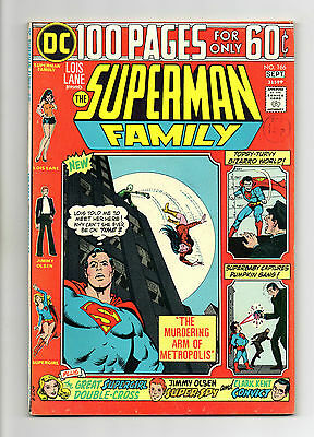 Superman Family Vol 1 No 166 Sep 1974 (VFN+) Giant Size 100 Pages, Bronze Age