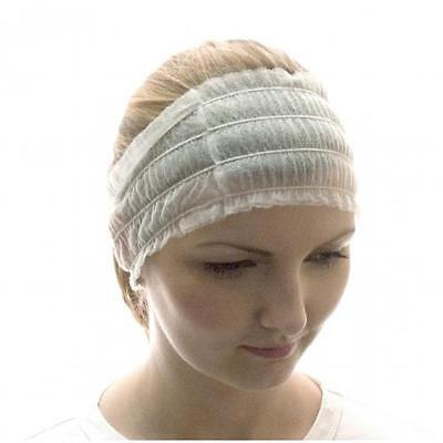 Pro Salon Disposable Stretch Spa Client Pro Protection Hair Headband x 100