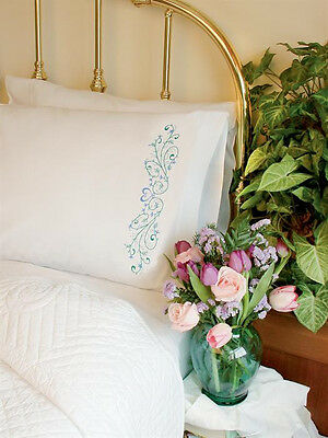 Dimensions Embroidery Kit - Filgree Scroll Pillowcases