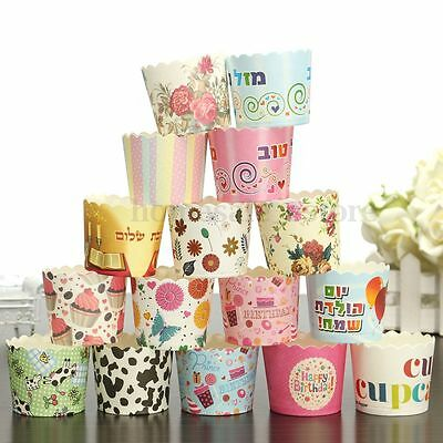 50/100pcs Cake Baking Paper Cup Cupcake Liners  Muffin Case Home Christmas Party