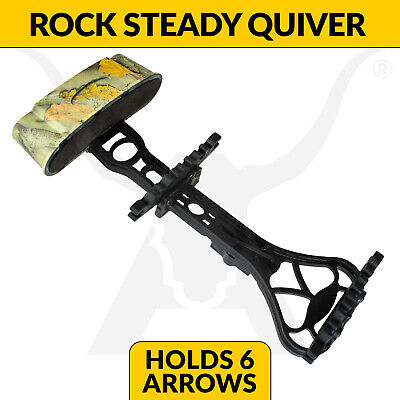 Apex Rock Steady 6 Arrow Bow Quiver - Camo - Archery + Hunting Compound Bows