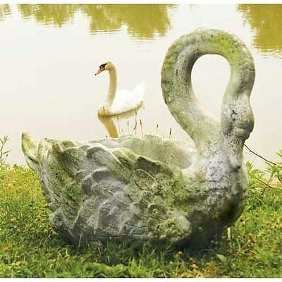 Museum Quality GRACEFUL SWAN PLANTER Garden Statue NEW!