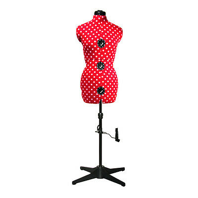 NEW | Adjustoform Red Polka Dot 8-Part Adjustable Dressmaker's Dummy UK 16-20