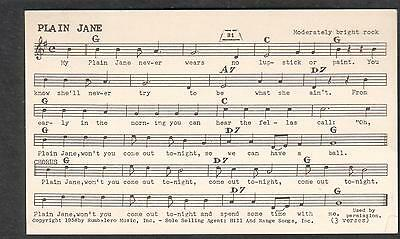 Tune-Dex performing rights card-Plain Jane- Billy Darrin Bobby Darin/Doc Pomus