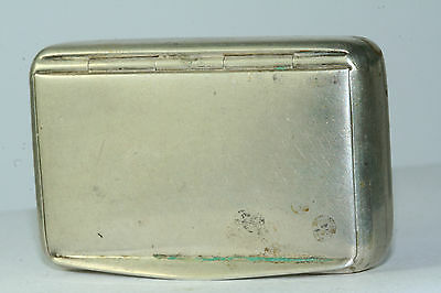 Antique Germany 800 Silver Gold Vermeil Snuff Box