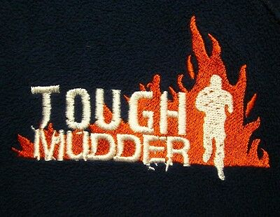 TOUGH MUDDER med hoodie athletic jacket 10K obstacle mud run race embroidery