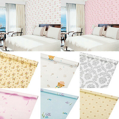 1M Self-adhesive Damask Wallpaper Stickers Multi-style Bedroom Background Modern