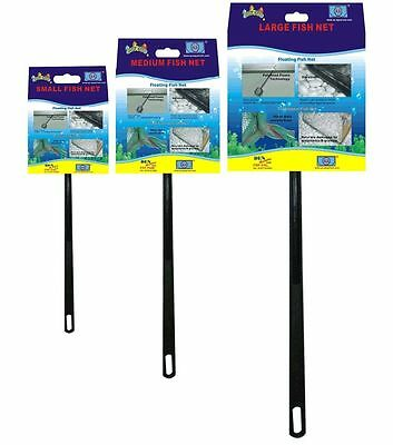 Fish R Fun Floating Fish Skim Catch Net Plastic Tropical Cold Aquarium Fish Tank