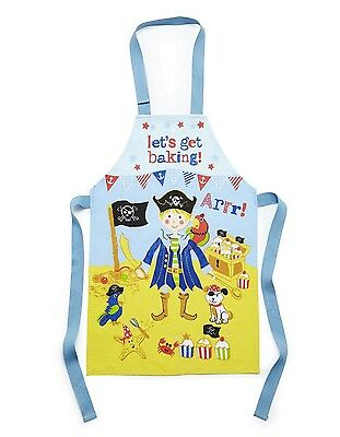 Cooksmart Childrens PVC Coated Cotton Apron Captain Flapjack Pirate Blue 2-4 Yrs