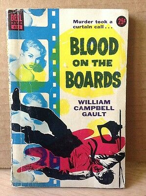 Gault, William Campbell BLOOD ON THE BOARDS (1953) Joe Burke pulp mystery