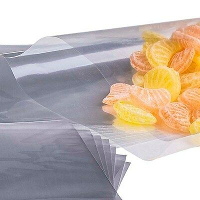 """Clear Cellophane Cello bags sweets, lolly 3x5"""" with/without ties -colour choice"""