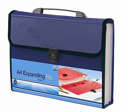 20 Pocket A4 Expanding File With Carry Handle Office Stationery & Storage Folder