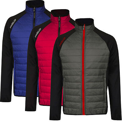 PROQUIP 2016 Full Zip Therma Tour Quilted Insulated Mens Golf Jacket