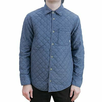 Altamont Apparel Vacant Quilted Flannel Shirt Indigo Blue All Sizes New