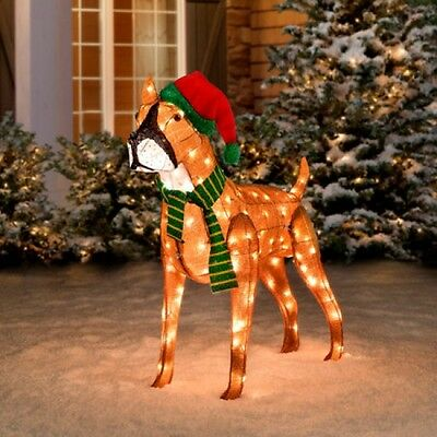 Christmas lighted rudolph 39 s yukon on dog sled yard holiday for Christmas cat yard decorations