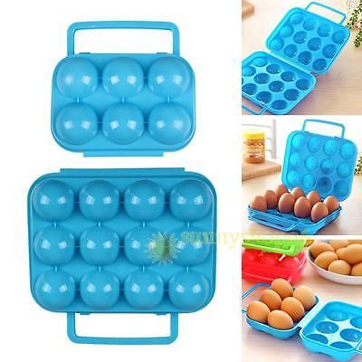 Portable 6/12 Eggs Plastic Container Holder Folding Egg Storage Box Handle Case