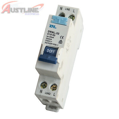 RCD / MCB Safety Switch Circuit Breaker RCBO 1 Pole +N 3KA 10A