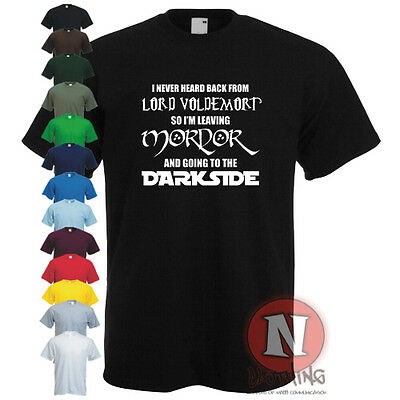 Lord Voldemort Lord of the Rings Star wars darkside Harry Potter spoof t-shirt