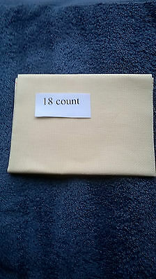 A Piece of  Golden Cream 18 count Cross Stitch Fabric, 12 by 12 inches