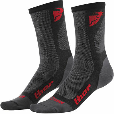COPPIA CALZE THOR DUAL SPORT COOL SOCK RED MOTO CROSS COOL MAX ENDURO Tg 10/13