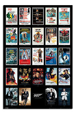 James Bond 007 Movie Posters Inc Spectre Poster New - Maxi Size 36 x 24 Inch