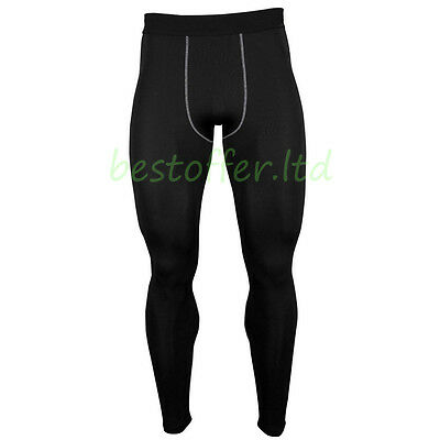Mens New Compression Base Layer Long Pants Leggings Running Under Tight Trousers