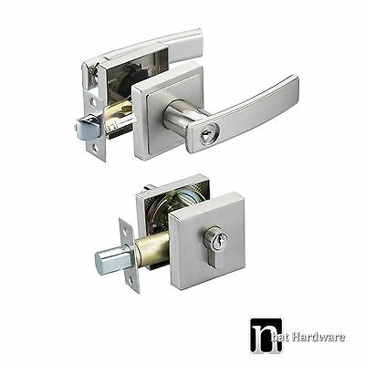 Door Lever Handles Entrance Set with a Deadbolt  - Avoca series Handle (3777)